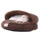 Armarkat Hooded Mocha/Leopard Pillow Cat Bed