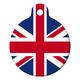 British Flag Pet ID Tag Large