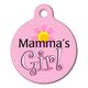 Mamas Girl Pet ID Tag Large