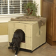 Wicker Cat Litter Pan Cover Jumbo Dark Brown
