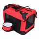 Pet Life Red Deluxe Vista View Pet Carrier  XL