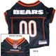 Chicago Bears Orange Trim Dog Jersey X-Large