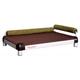 snoozeLounge Chocolate Dog Bed LG Black Orange