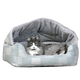 KH Mfg Hooded Lounge Sleeper Teal Pet Bed