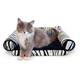 KH Mfg Lazy Lounger Zebra Cat Bed