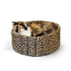 KH Mfg Leopard Lazy Cup Pet Bed Large