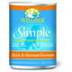 Wellness Simple Duck/Oatmeal Can Dog Food 12 Pk
