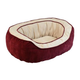 Chevron Gusset Daydreamer Burgundy Dog Bed Large