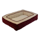 Chevron Gusset Low Bumper Burgundy Pillow Dog Bed