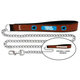NFL Carolina Panthers Leather Chain Leash LG