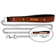 NFL Cleveland Browns Leather Chain Leash LG