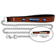 NFL Denver Broncos Leather Chain Leash LG