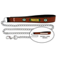 NFL Green Bay Packers Leather Chain Leash LG