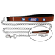 NFL New York Giants Leather Chain Leash LG