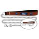 NFL New England Patriots Leather Chain Leash LG