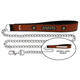 NFL New Orleans Saints Leather Chain Leash LG