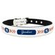 MLB New York Yankees Leather Dog Collar LG