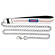 MLB Chicago Cubs Leather Chain Dog Leash LG