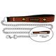 NCAA Iowa Hawkeyes Chain Dog Leash LG