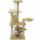 Go Pet Club 62 inch F208 Beige Cat Tree Furniture