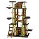 Go Pet Club 77 inch Brown-Black Cat Tree Furniture
