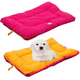 Eco-Paw Reversible Pink and Orange Pet Bed LG