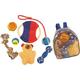 Pet Life 8-Piece Backpack Dog Toy Set