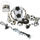 Pet Life 8-Piece Soccer Themed Dog Toy Set