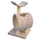 Loft and Round Cat Scratch Post w/Tunnel Tan