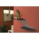 Refined Feline Cat Clouds Cat Shelf Left Titanium
