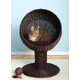Refined Feline Kitty Ball Bed Espresso
