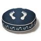 PLAY Footprint Blue Round Dog Bed Medium