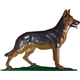 German Shepherd Weathervane Rooftop Color