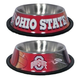 NCAA Ohio State Stainless Steel Dog Bowl