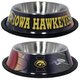 NCAA Iowa Hawkeyes Stainless Steel Dog Bowl