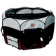 One for Pets Portable Pet Playpen LG Fuchsia-Grey