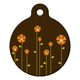 Retro Garden Pet ID Tag Large