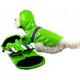 Pet Life Lime Green Reflecta-Glow Dog Raincoat MD