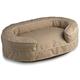Crypton Loopy Khaki Cream Bolster Dog Bed Large