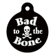 Bad to the Bone Pet ID Tag Large
