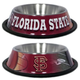 NCAA Florida State Stainless Steel Dog Bowl