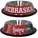 NCAA Nebraska Huskers Stainless Steel Dog Bowl