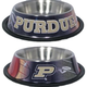 NCAA Purdue University Stainless Steel Dog Bowl