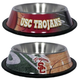 NCAA USC Trojans Stainless Steel Dog Bowl
