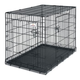 Petmate 2-Door Wire Dog Crate 43.4Lx29.3Wx31H