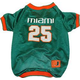 NCAA Miami Hurricanes Dog Jersey Small