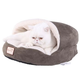 Armarkat Covered Laurel Green/Ivory Cat Bed