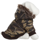 Pet Life Metallic Camouflage Parka Dog Coat XL