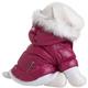 Pet Life Metallic Pink Parka Dog Coat LG