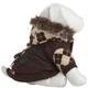 Pet Life Brown Argyle Suede Dog Coat LG